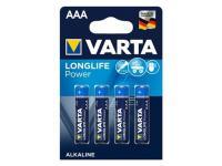 PILA ALCALINA VARTA LONGLIFE POWER 1.5V. LR03 AAA ( 4-BLISTER )